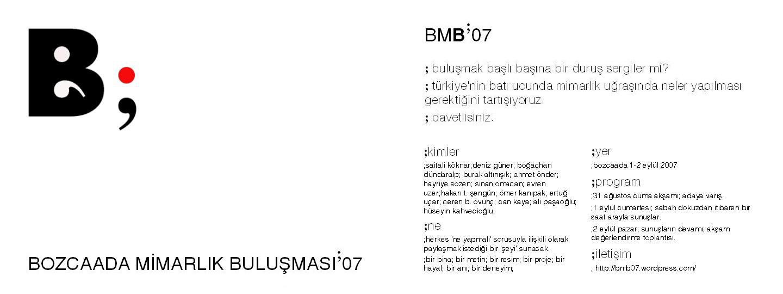 BMB 07 BOZCAADA MİMARLIK BULUŞMASI PARSEL 1318 SUNUMU (2)